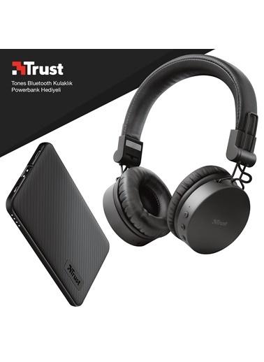 Trust Trust Tones Siyah Bluetooth Kulak Üstü Kulaklık Powerbank Hediyeli Renkli